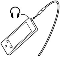 Conexión de teléfono móvil con pinganilloa