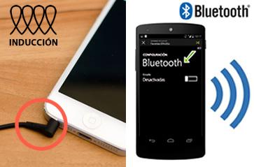 Collegare l'auricolare tramite bluetooth o per induzione