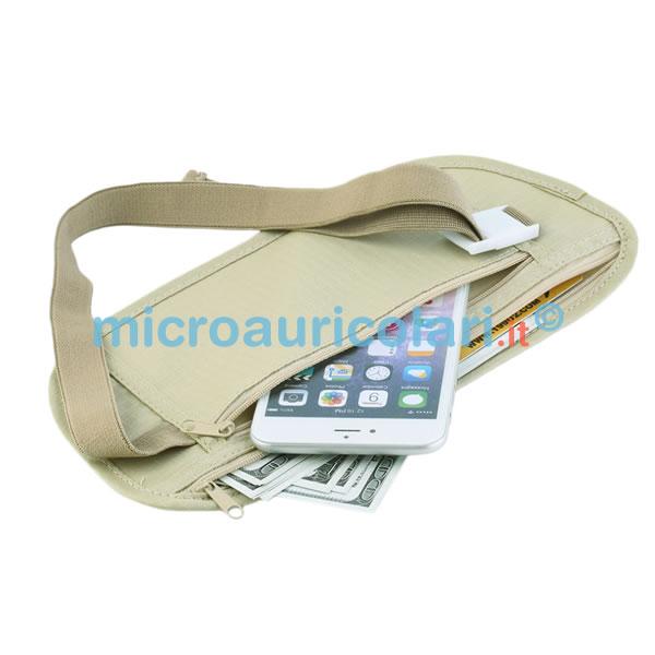 Marsupio con tasca nascosta per cellulari