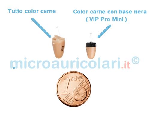 Micro auricolare color pelle e base nera