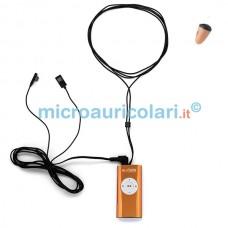 Micro auricolare VIP Pro Mini con collana mp3 con pulsanti